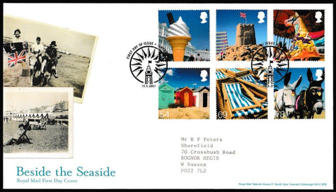 Great Britain First Day Cover, 'Beside the Seaside', Royal Mail, Blackpool, 15-May-2007