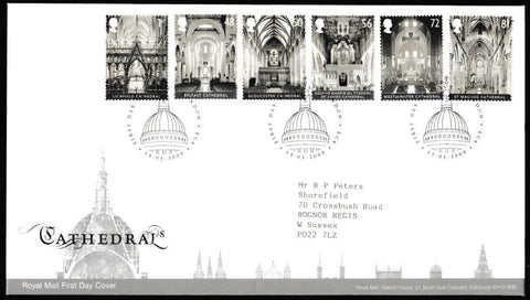 Great Britain First Day Cover, 'Cathedrals', Royal Mail, London, EC4, 13-Apr-2008
