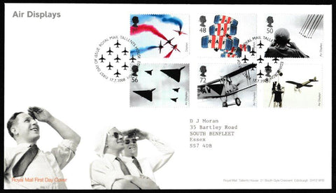 Great Britain First Day Cover, 'Air Displays', Royal Mail, Royal Mail, Tallents House, Edinburgh, 17-Jul-2008