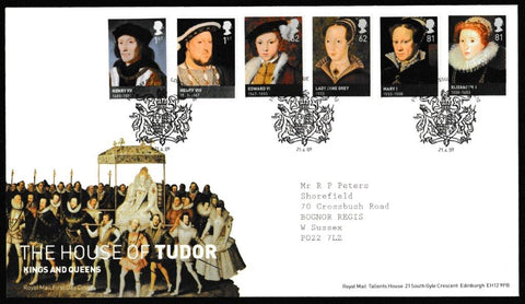 Great Britain First Day Cover, 'The House of Tudor', Royal Mail, London, SE10, 21-Apr-2009