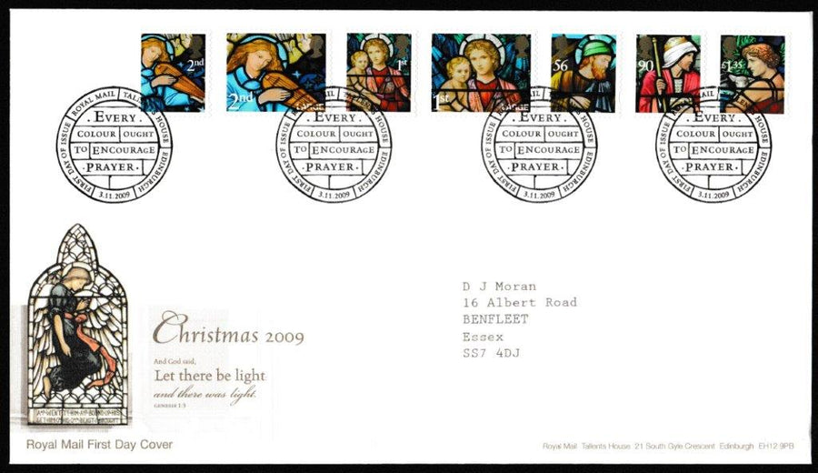 Great Britain First Day Cover, 'Christmas 2009  ', Royal Mail, Royal Mail, Tallents House, Edinburgh, 03-Nov-2009