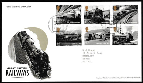 Great Britain First Day Cover, 'Great British Railways', Royal Mail, Royal Mail, Tallents House, Edinburgh, 19-Aug-2010