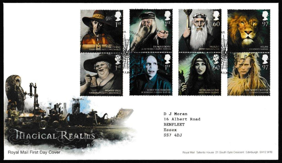 Great Britain First Day Cover, 'Magical Realms', Royal Mail, Royal Mail, Tallents House, Edinburgh, 08-Mar-2011