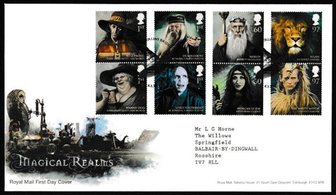 Great Britain First Day Cover, 'Magical Realms', Royal Mail, Merlins Bridge, Haverfordwest, 08-Mar-2011