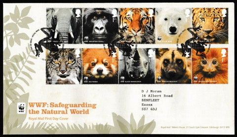 Great Britain First Day Cover, 'WWF - Safeguarding the Natural World', Royal Mail, Royal Mail, Tallents House, Edinburgh, 22-Mar-2011