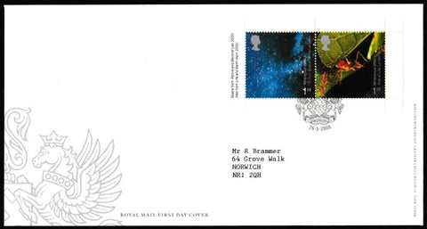 Great Britain First Day Cover - Mini Sheet, 'Millenium 2000 - Mini Sheet', Royal Mail, Leicester, 26-May-2000