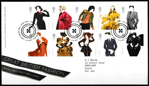 Great Britain First Day Cover, 'Great British Fashion', Royal Mail, Royal Mail, Tallents House, Edinburgh, 15-May-2012