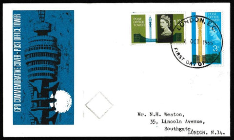 Great Britain First Day Cover, 'Post Office Tower', Royal Mail, London, EC, 08-Oct-1965
