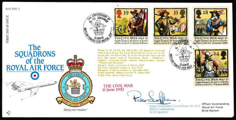 Great Britain First Day Cover, '350th Anniversary of the Civil War (SIGNED)', RAF, BFPS 2320, 16-Jun-1992