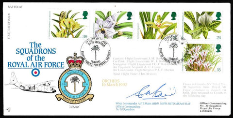 Great Britain First Day Cover, '14th World Orchid Conference (SIGNED)', RAF, BFPS 2348, 16-Mar-1993