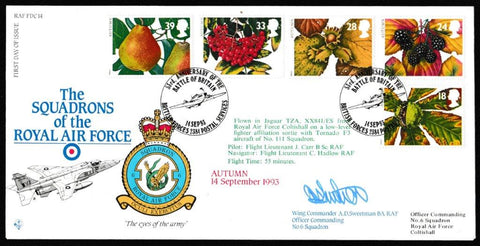 Great Britain First Day Cover, 'Autumn Season (SIGNED)', RAF, BFPS 2384, 14-Sep-1993