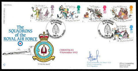 Great Britain First Day Cover, 'Christmas 1993 (SIGNED)', RAF, BFPS 2389, 09-Nov-1993