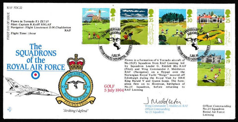 Great Britain First Day Cover, 'Golf (SIGNED)', RAF, BFPS 2429, 05-Jul-1994