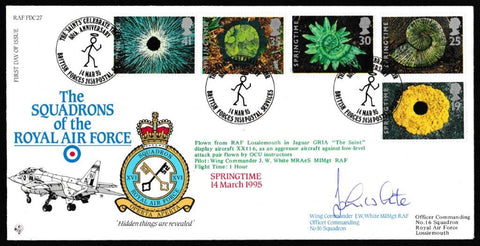Great Britain First Day Cover, 'Springtime (SIGNED)', RAF, BFPS 2458, 14-Mar-1995