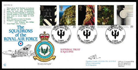 Great Britain First Day Cover, 'Centenary of the National Trust (SIGNED)', RAF, BFPS 2459, 11-Apr-1995