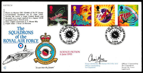 Great Britain First Day Cover, 'Science Fiction (SIGNED)', RAF, BFPS 2469, 06-Jun-1995