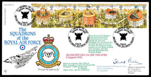 Great Britain First Day Cover, 'Opening of the Replica Globe Theatre London (SIGNED)', RAF, BFPS 2470, 08-Aug-1995