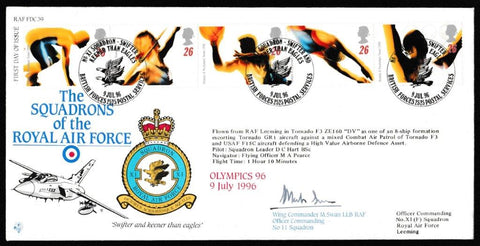 Great Britain First Day Cover, 'Olympic Games (SIGNED)', RAF, BFPS 2525, 09-Jul-1996