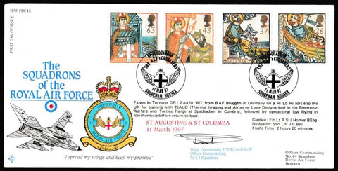 Great Britain First Day Cover, 'Missions of Faith (SIGNED)', RAF, No 14 Squadron, Shoreham, Sussex, 11-Mar-1997
