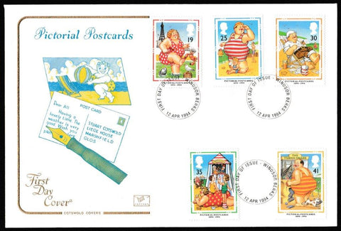 Great Britain First Day Cover, 'Pictorial Postcards 1894-1994', Cotswold, Windsor , 12-Apr-1994