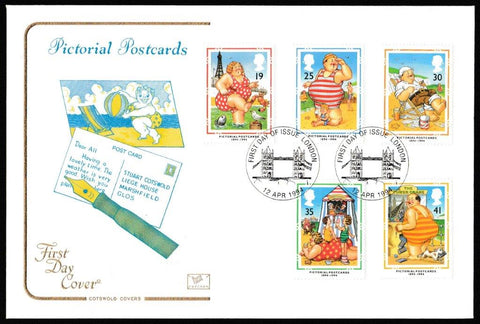 Great Britain First Day Cover, 'Pictorial Postcards 1894-1994', Cotswold, London (Tower Bridge), 12-Apr-1994