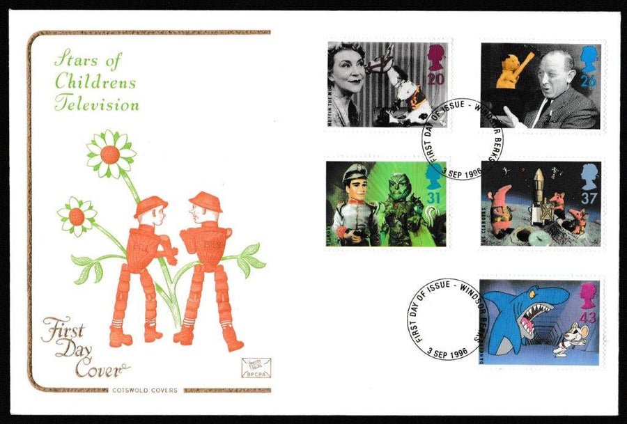 Great Britain First Day Cover, 'Childrens TV', Cotswold, Windsor, 03-Sep-1996