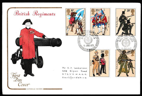 Great Britain First Day Cover, 'The British Army', Cotswold, The Royal Green Jackets, BFPS 1800, 06-Jul-1983
