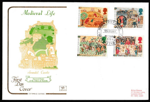 Great Britain First Day Cover, '900th Anniversary of the Domesday Book', Cotswold, Domesday Book, Winchester, Hants, 17-Jun-1986