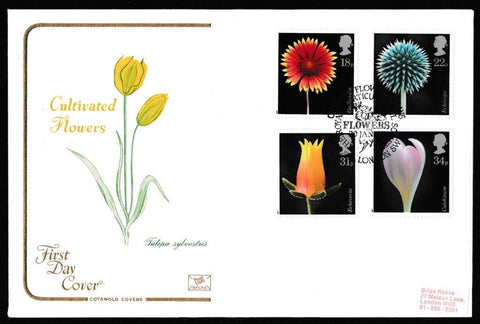 Great Britain First Day Cover, 'Flowers', Cotswold, Chelsea Flower Shows, Chelsea, London SW3, 20-Jan-1987