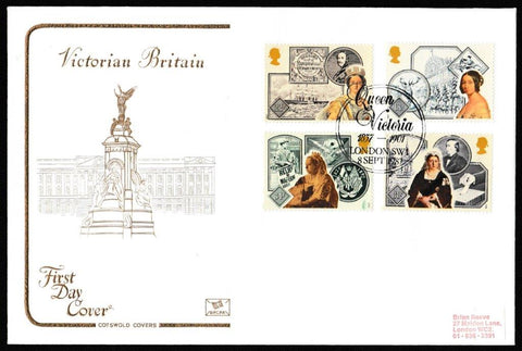 Great Britain First Day Cover, '150th Annversary Accession of Queen Victoria', Cotswold, Queen Victoria, London, SW1, 08-Sep-1987