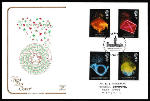 Great Britain First Day Cover, 'Anniversaries', Cotswold, SW London Letter District, 11-Apr-1989