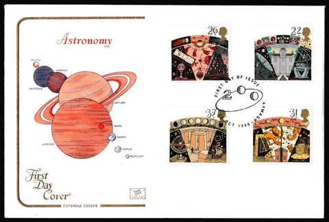 Great Britain First Day Cover, 'Centenary British Astronomical Association', Cotswold, Armagh, 16-Oct-1990