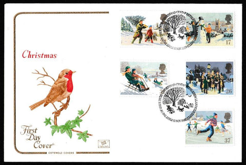 Great Britain First Day Cover, 'Christmas 1990', Cotswold, Bethlehem, Llandeilo, 13-Nov-1990