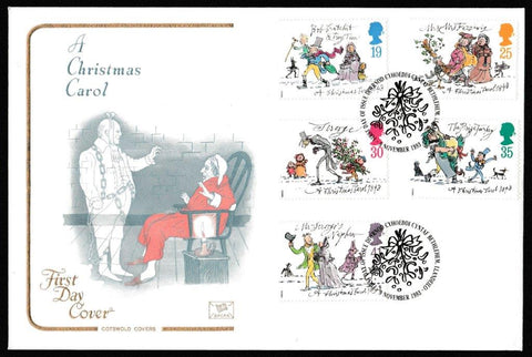 Great Britain First Day Cover, 'Christmas 1993', Cotswold, Bethlehem, Llandeilo, 09-Nov-1993