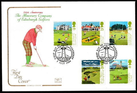 Great Britain First Day Cover, 'Golf', Cotswold, Turnberry, 05-Jul-1994