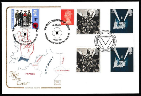 Great Britain First Day Cover, 'Peace and Freedom', Cotswold, 50th Anniversar End of WWII, 02-May-1995