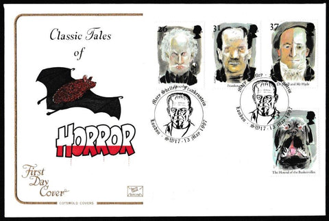 Great Britain First Day Cover, 'Tales of Horror', Cotswold, Mary Shelley Frankenstein, London, SW17, 13-May-1997