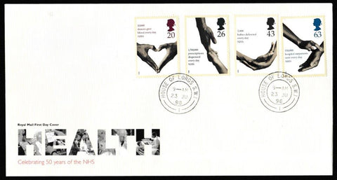 Great Britain First Day Cover, 'National Health Service', Royal Mail, House of Lords, London, SW1, 23-Jun-1998