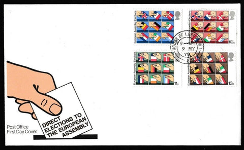 Great Britain First Day Cover, 'Direct Elections to the European Assembly', Royal Mail, House of Lords, London, SW1, 09-May-1979