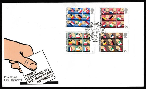 Great Britain First Day Cover, 'Direct Elections to the European Assembly', Royal Mail, House of Commons, London, SW1, 09-May-1979