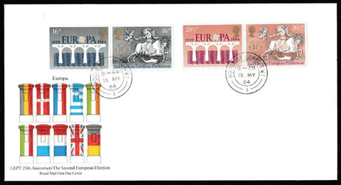 Great Britain First Day Cover, 'Europa Issue', Royal Mail, House of Lords, London, SW1, 15-May-1984