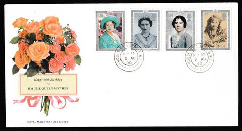 Great Britain First Day Cover, '90th Birthday HM The Queen Mother', Royal Mail, House of Lords, London, SW1, 02-Aug-1990
