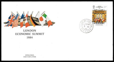 Great Britain First Day Cover, 'Economic Summit. London', Royal Mail, House of Lords, London, SW1, 06-Jun-1984