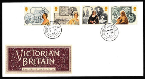Great Britain First Day Cover, '150th Annversary Accession of Queen Victoria', Royal Mail, House of Lords, London, SW1, 08-Sep-1987