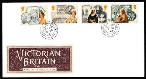 Great Britain First Day Cover, '150th Annversary Accession of Queen Victoria', Royal Mail, House of Commons, London, SW1, 08-Sep-1987