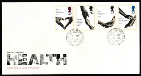 Great Britain First Day Cover, 'National Health Service', Royal Mail, House of Commons, London, SW1, 23-Jun-1998