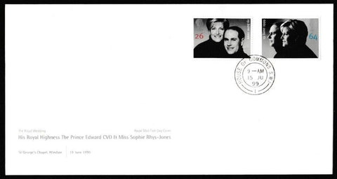 Great Britain First Day Cover, 'Royal Wedding', Royal Mail, House of Commons, London, SW1, 15-Jun-1999