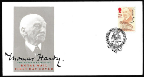 Great Britain First Day Cover, '150th Anniversary Thomas Hardy', Royal Mail, Thomas Hardy, Stinsford, Dorset, 10-Jul-1990