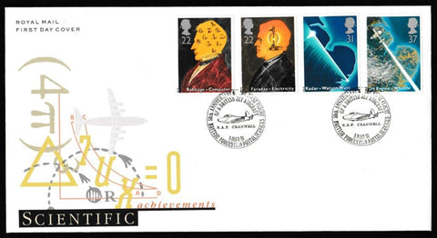 Great Britain First Day Cover, 'British Scientific Achievements', Royal Mail, BFPS 2259, 05-Mar-1991