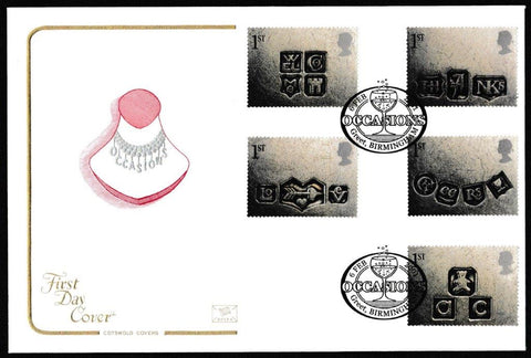 Great Britain First Day Cover, 'Greeting Stamps - Occasions', Cotswold, Occasions, Greet, Birmingham, 06-Feb-2001
